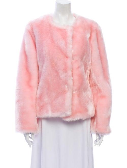 Milly Faux Fur Jacket Pink