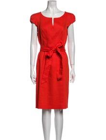 Milly Linen Knee-Length Dress
