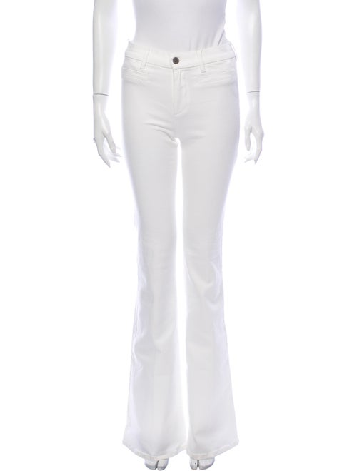 M.i.H Jeans Mid-Rise Wide Leg Jeans w/ Tags White