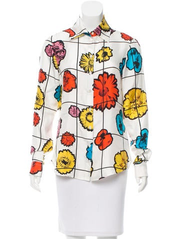 Moschino Couture Floral Silk Top None
