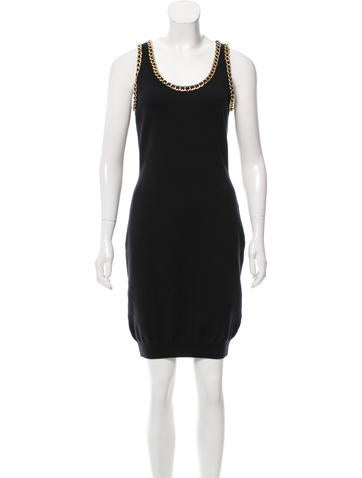 Moschino Couture Wool Chain-Link Dress w/ Tags None