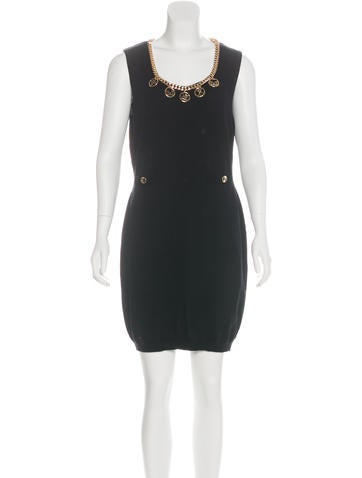 Moschino Couture Embellished Wool Dress None