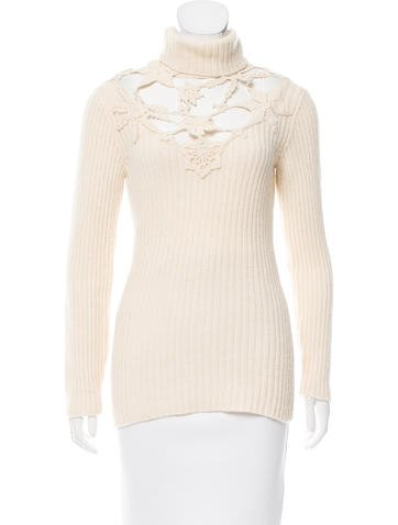 Moschino Couture Rib Knit Cutout Sweater None
