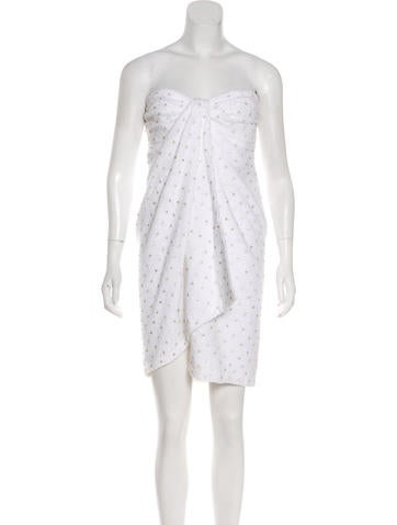Moschino Couture Embellished Towel Dress None