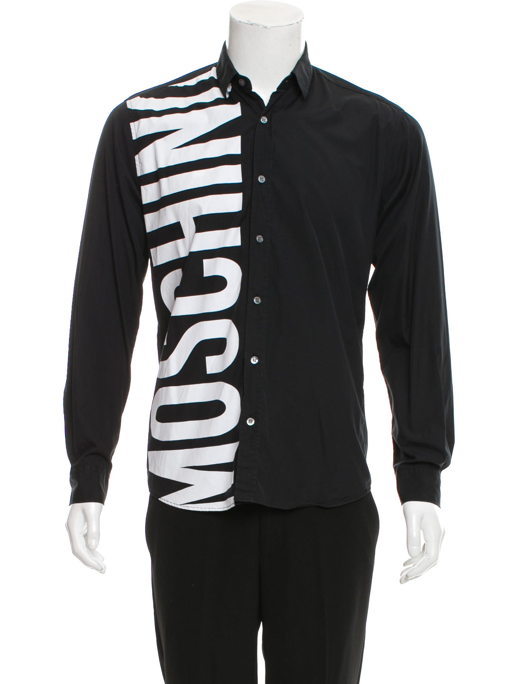 Moschino couture logo print button up shirt clothing for Shirts with logo print
