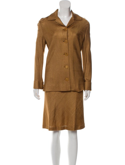Moschino Couture Skirt Suit Brown