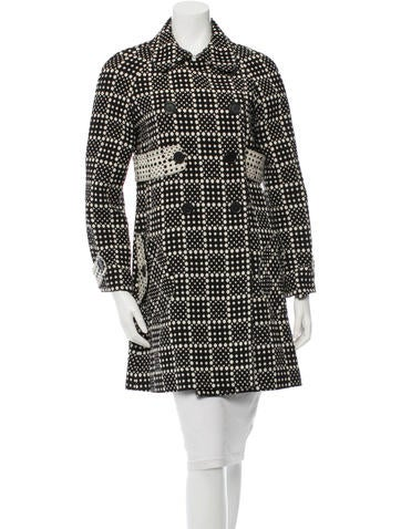 Marc by Marc Jacobs Wool Polka Dot Coat None