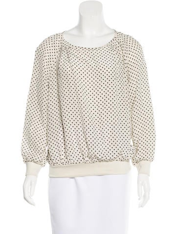 Marc by Marc Jacobs Geometric Print Long Sleeve Top None