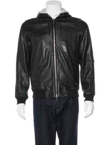 Marc by Marc Jacobs Hooded Leather Jacket None