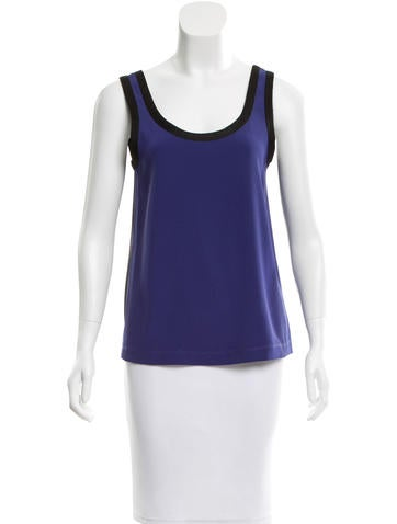 Marc by Marc Jacobs Two-Tone Mesh Top None
