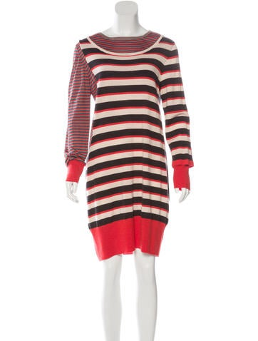 Marc by Marc Jacobs Striped Wool Dress None