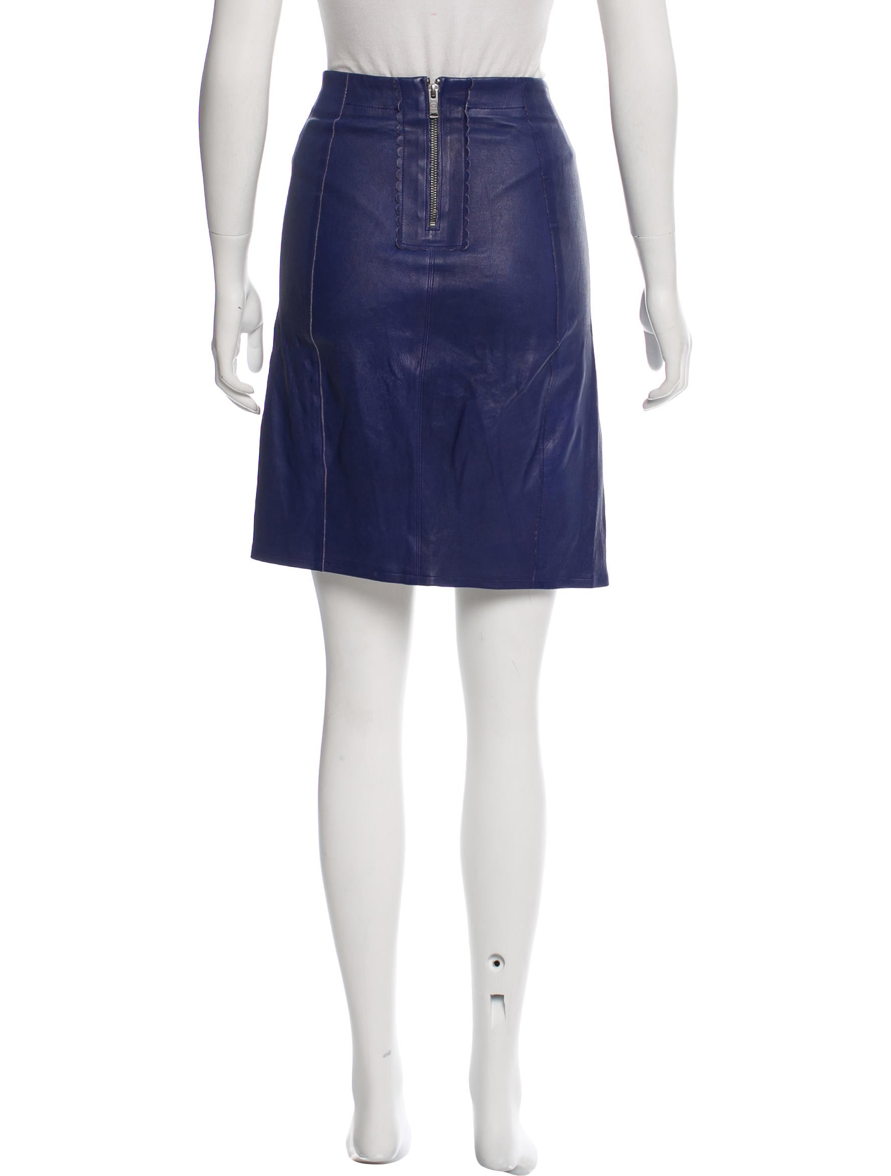marc by marc knee length leather skirt clothing