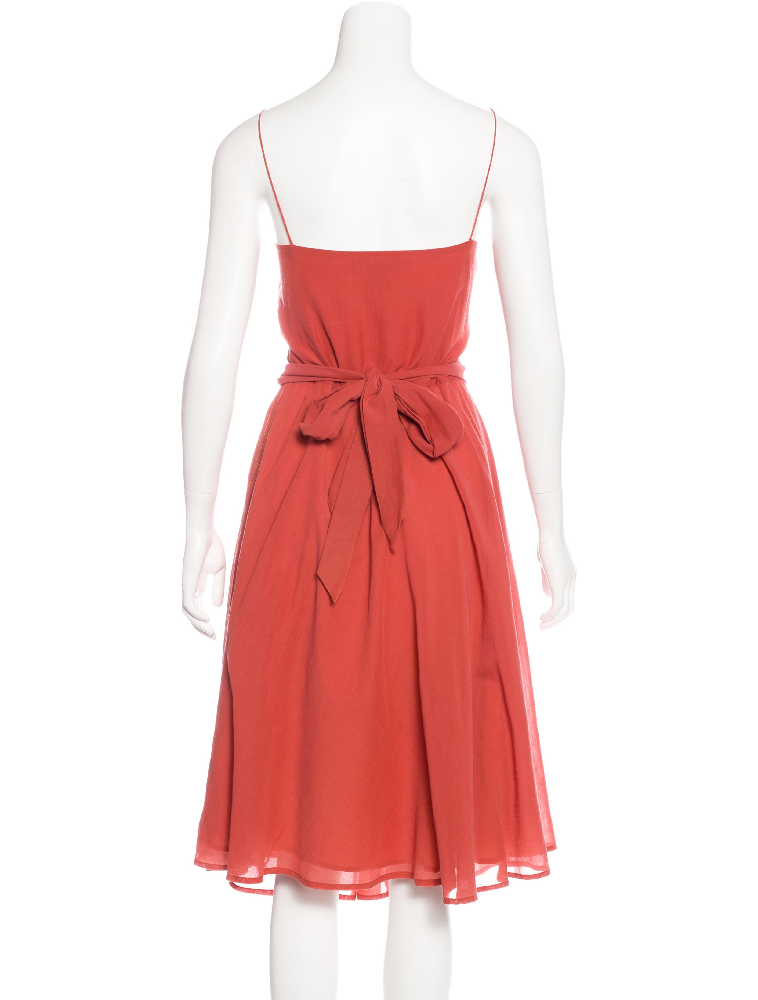 marc by marc belted sleeveless dress clothing