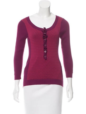 Marc by Marc Jacobs Long Sleeve Knit Top None