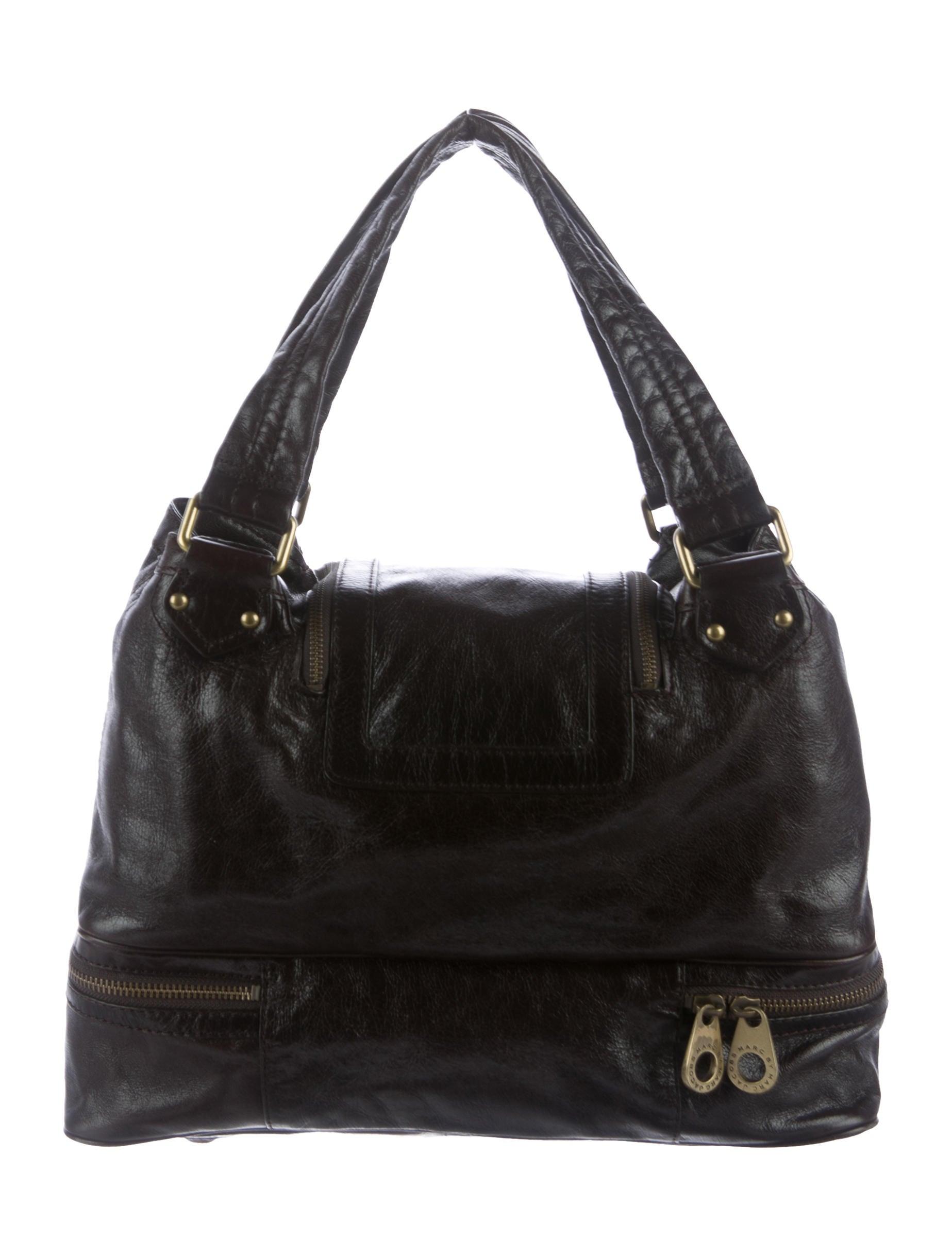 marc by marc jacobs leather turn lock shoulder bag. Black Bedroom Furniture Sets. Home Design Ideas