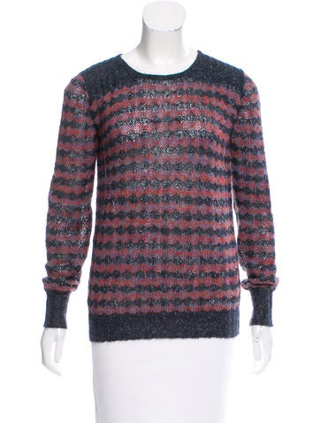 Marc by Marc Jacobs Striped Lurex-Accented Sweater None