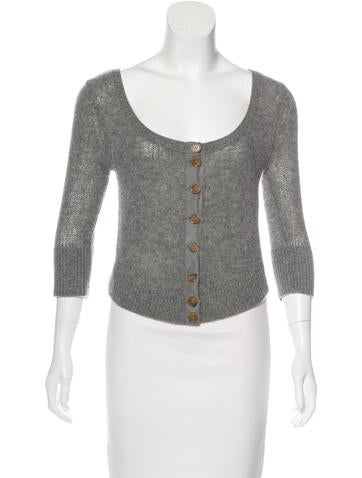 Marc by Marc Jacobs Wool & Cashmere Crop Cardigan None