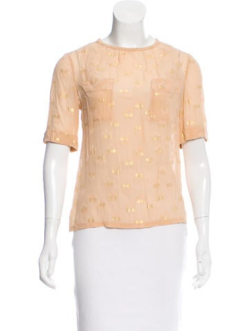 Marc by Marc Jacobs Lurex-Accented Silk Top None