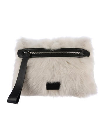 Marc by Marc Jacobs Shearling Wristlet Clutch w/ Tags None