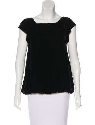 Marc by Marc Jacobs Sleeveless Velvet Top None