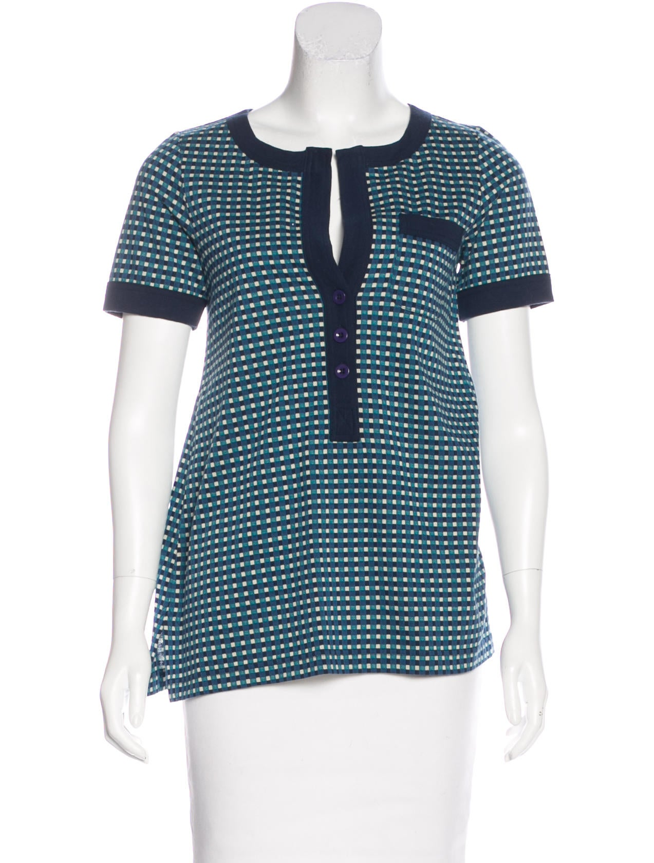 bc347701 Marc by Marc Jacobs Jacquard Knit Short Sleeve Top - Clothing ...