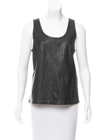 Marc by Marc Jacobs Leather Sleeveless Top None