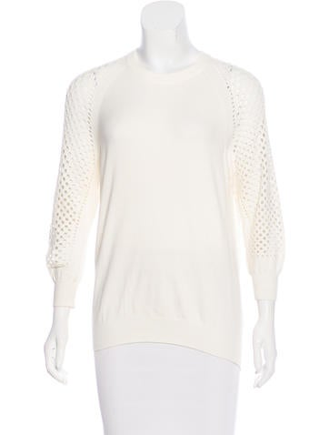 Marc by Marc Jacobs Open Knit Long Sleeve Sweater None