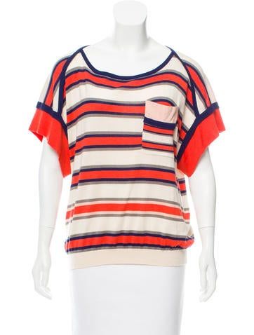Marc by Marc Jacobs Striped Knit Top None
