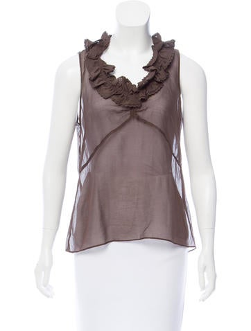 Marc by Marc Jacobs Sleeveless Sheer Top None