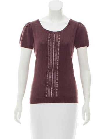 Marc by Marc Jacobs Short Sleeve Knit Top None