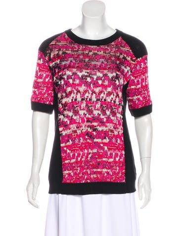 Marc by Marc Jacobs Patterned Short Sleeve Sweater None