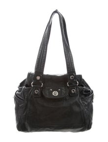 a00df99a0ef Marc by Marc Jacobs. Grained Leather Shoulder Bag