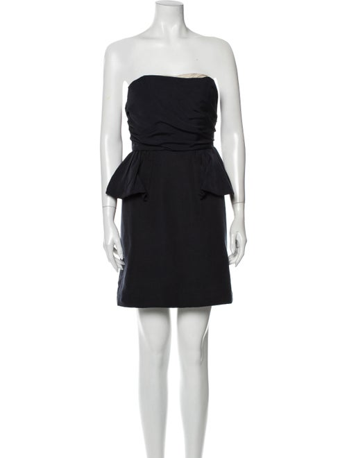 Marc by Marc Jacobs Strapless Mini Dress Blue