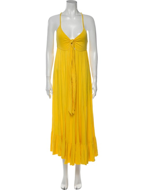 Marc by Marc Jacobs V-Neck Long Dress Yellow