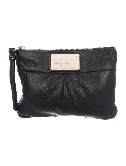 Marc by Marc Jacobs Leather Zip Pouch Black