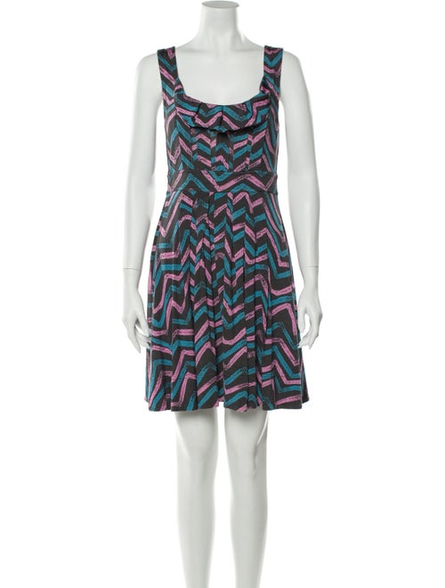 Marc by Marc Jacobs Printed Mini Dress Grey