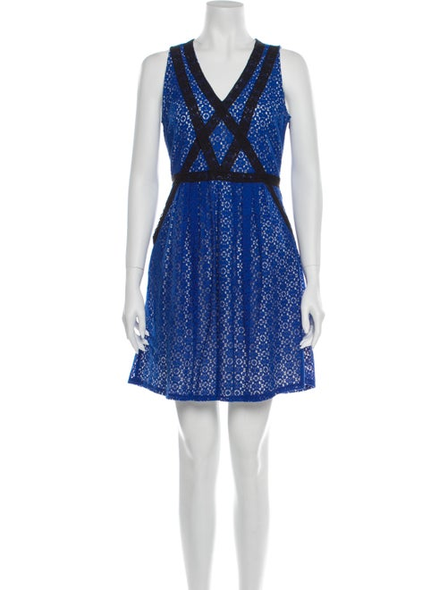 Marc by Marc Jacobs Lace Pattern Mini Dress Blue