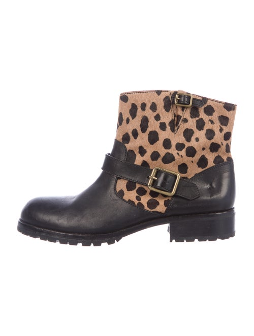 Marc by Marc Jacobs Calf Hair Printed Moto Boots B