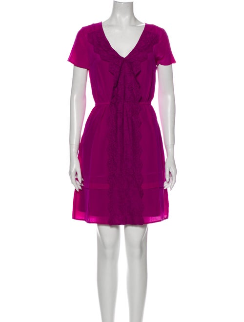 Marc by Marc Jacobs Silk Mini Dress Purple