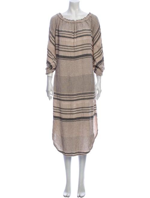Malia Milis Striped Midi Length Dress