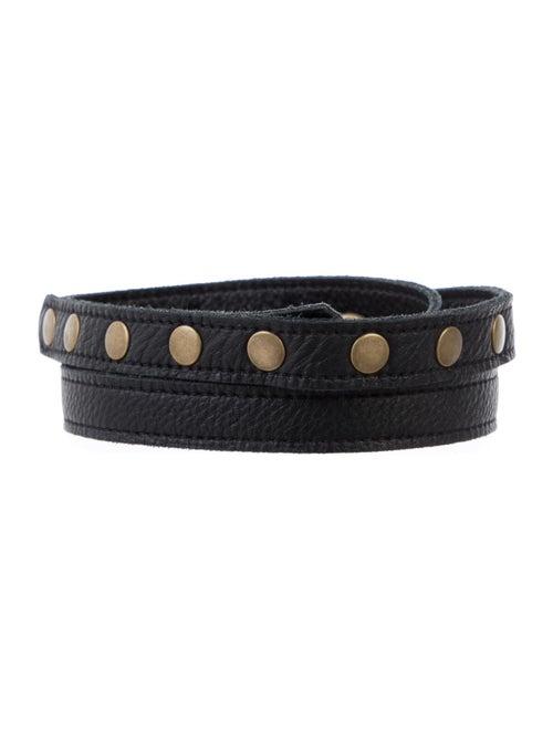 Malia Milis Leather Belt w/ Tags Black