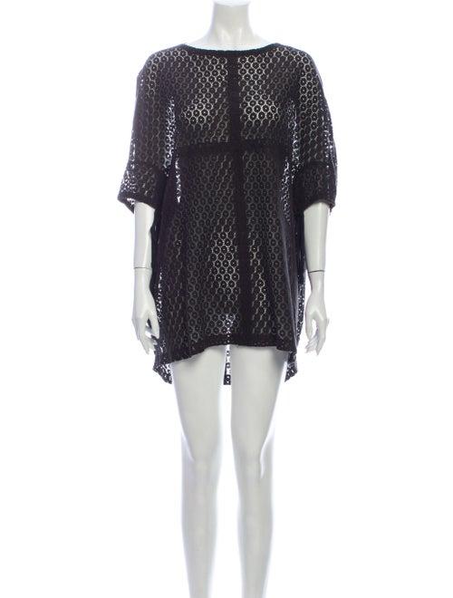 Malia Mills Lace Pattern Mini Dress Black