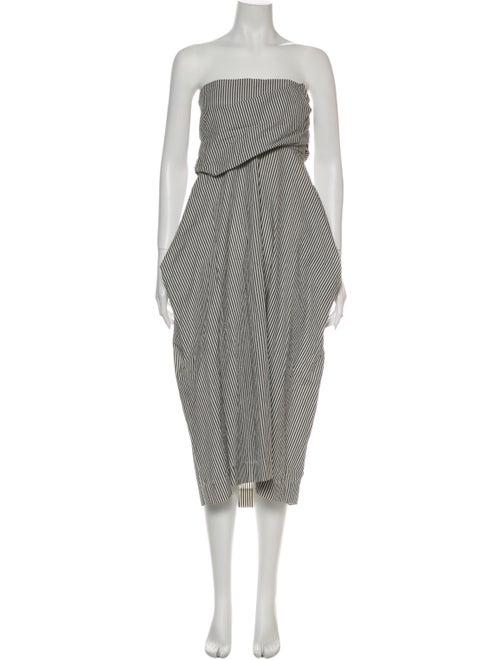 Malia Mills Striped Knee-Length Dress Grey