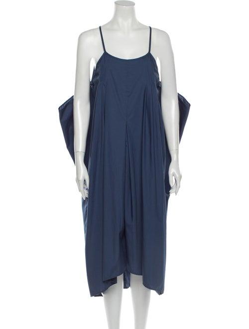 Malia Mills Scoop Neck Midi Length Dress Blue