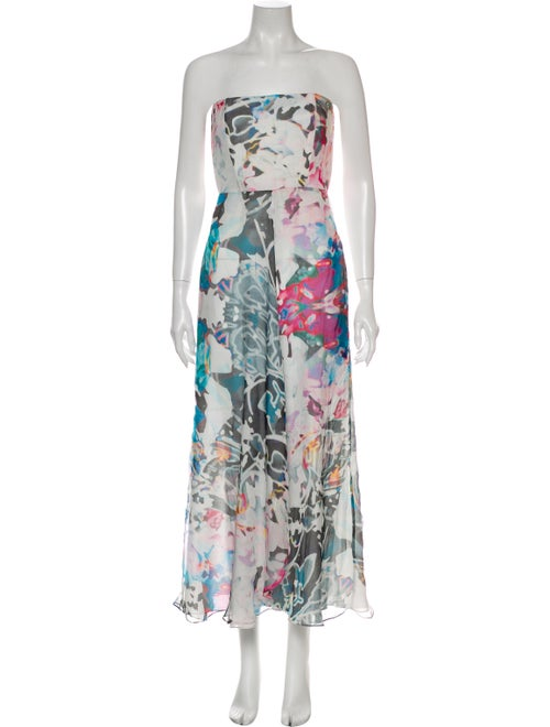 Mara and Mine Silk Long Dress White