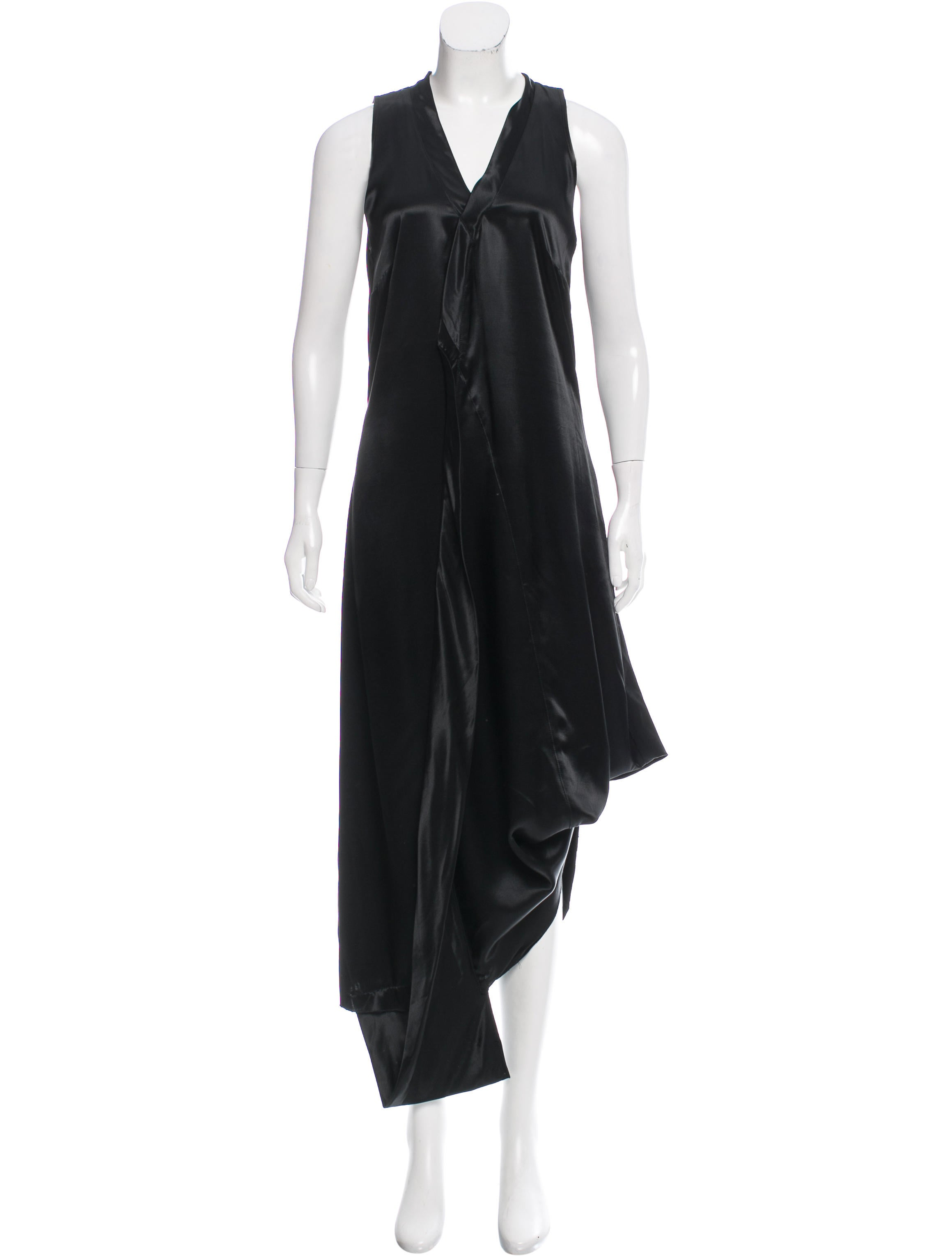 Martinmartin satin waterfall dress w tags clothing for Waterfall design dress