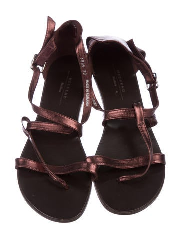 Weekend MaxMara Leather Multistrap Sandals cheap sale shop big discount online YcIxQa8oA