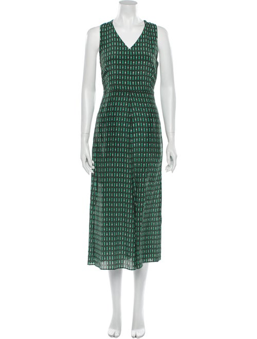 Weekend Max Mara Silk Long Dress Green