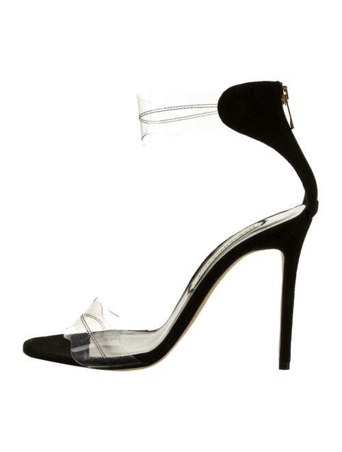 Marskinryyppy PVC Suede-Trimmed Sandals Clear