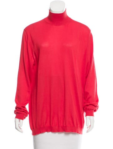 Manrico Cashmere Cashmere Mock Neck Top w/ Tags None